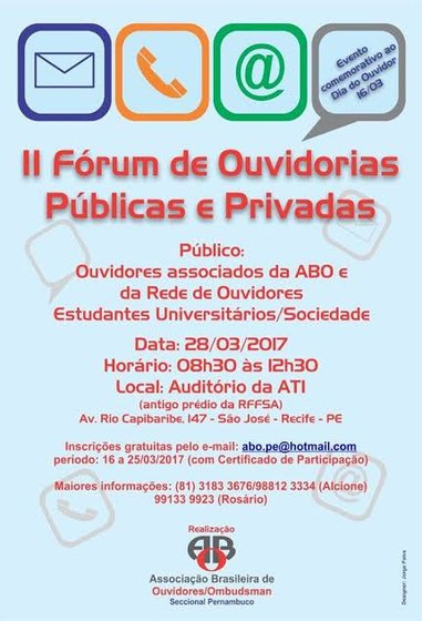 II Fórum de Ouvidorias Públicas e Privadas